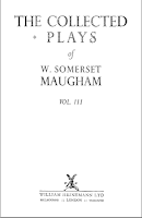 The Collected Plays, 1952 Heinemann - W. Somerset Maugham