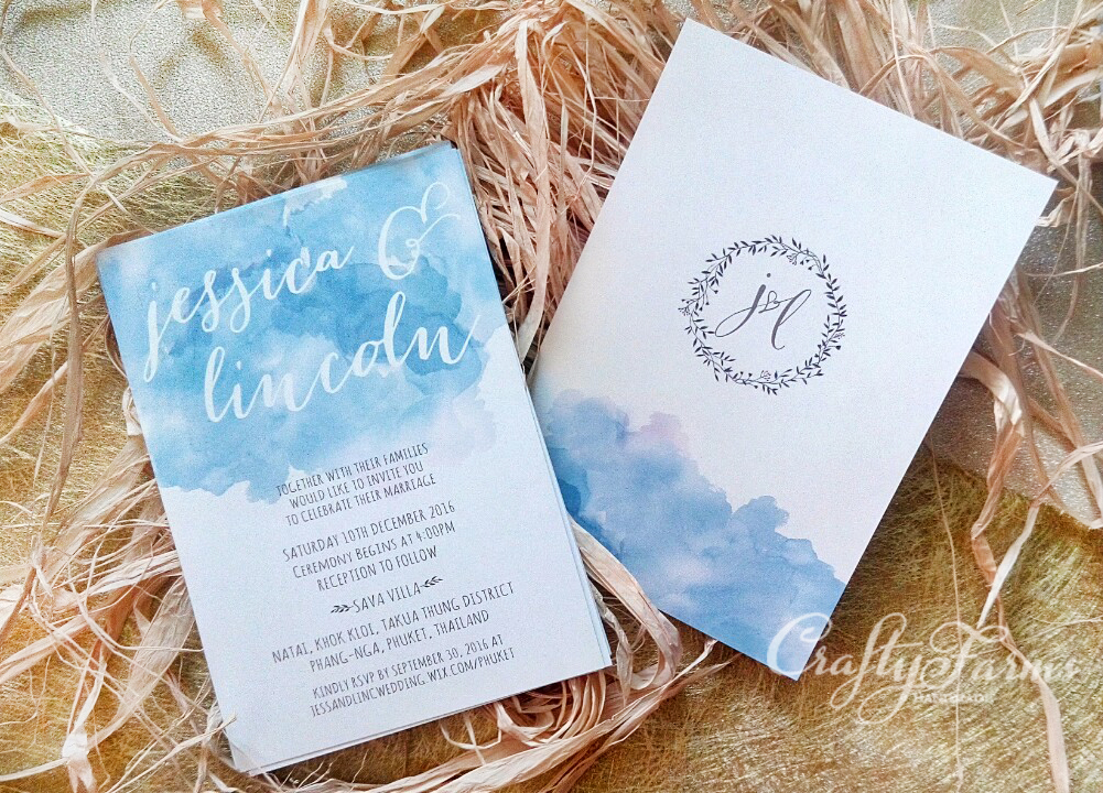 top wedding invitations016%0A summer wedding invitations    Watercolour and Calligraphy Style Wedding  Invitation Cards Malaysia