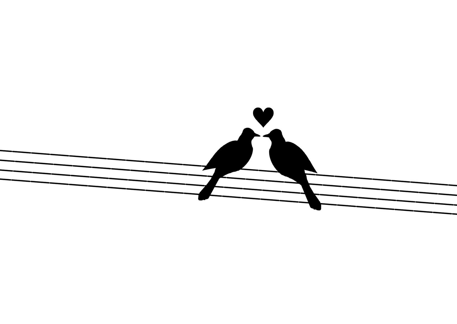 Love Bird Outline