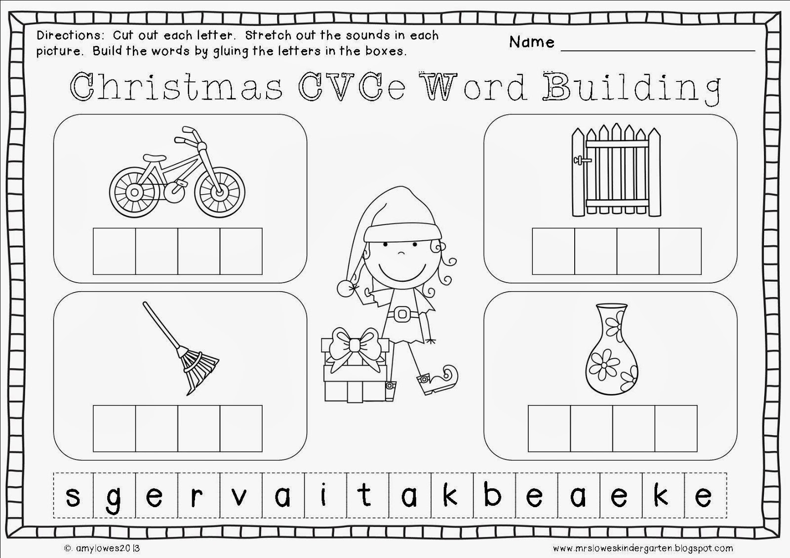 mrs lowes 39 kindergarten korner no prep christmas math and literacy printables giveaway. Black Bedroom Furniture Sets. Home Design Ideas