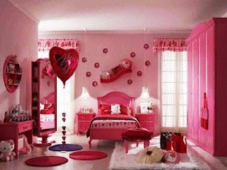 Desain Kamar Anak Cewek Cat Warna Pink Cantik Modern