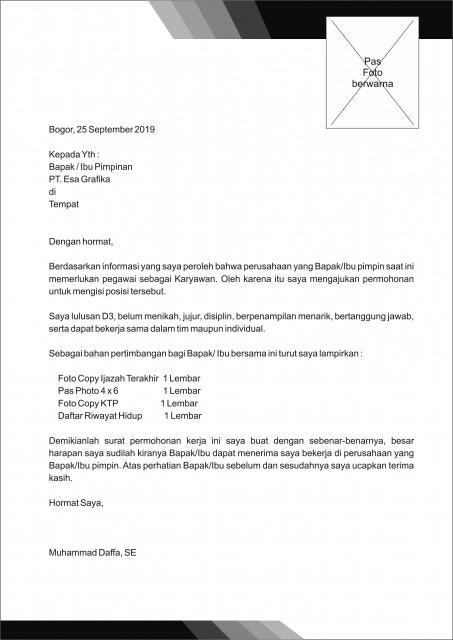 74 Free Download Contoh Surat Lamaran Kerja Kepada Alfamart Format Doc