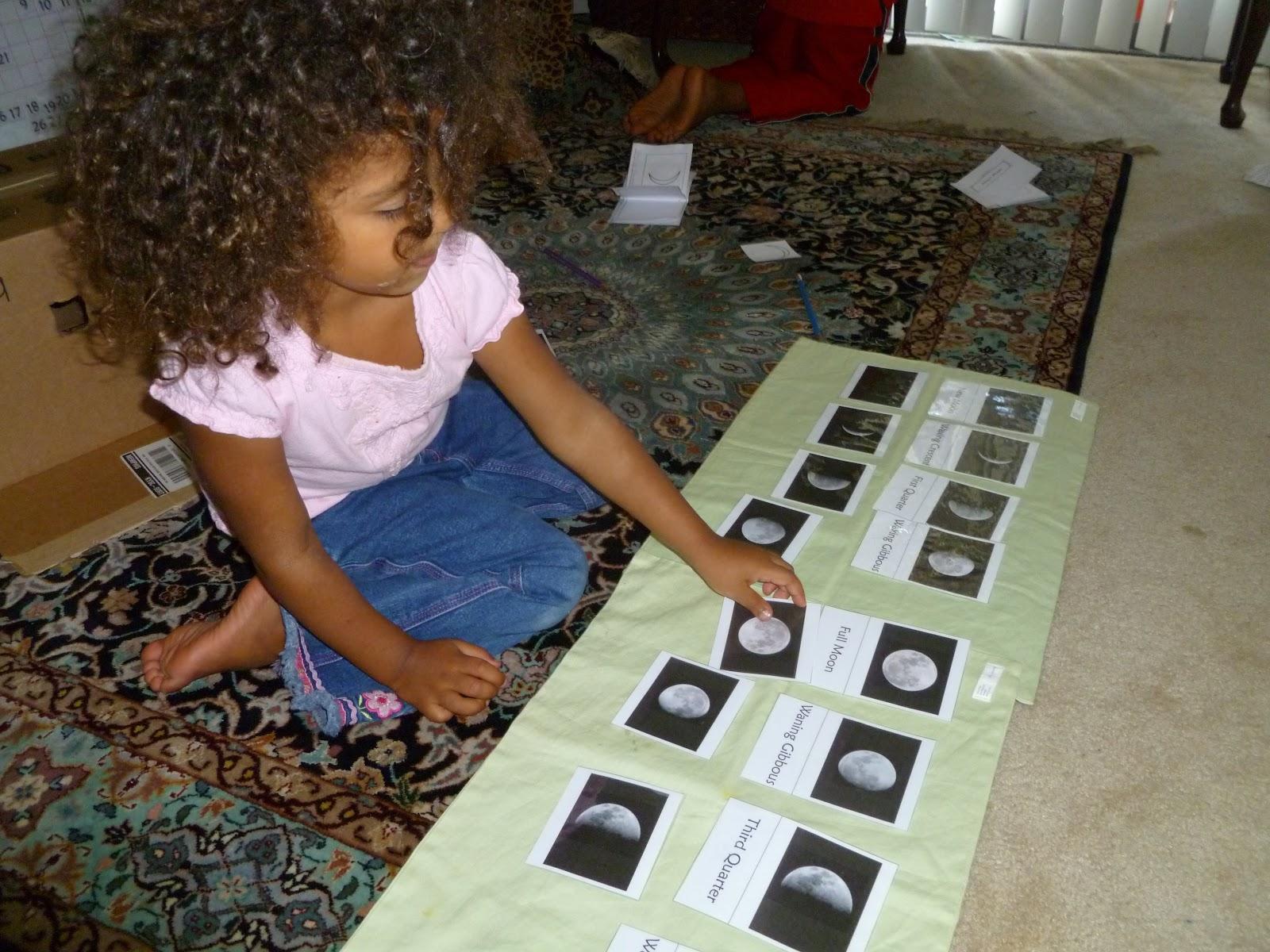 Noor Janan Homeschool Moon 3 Part Card Book Amp Fun