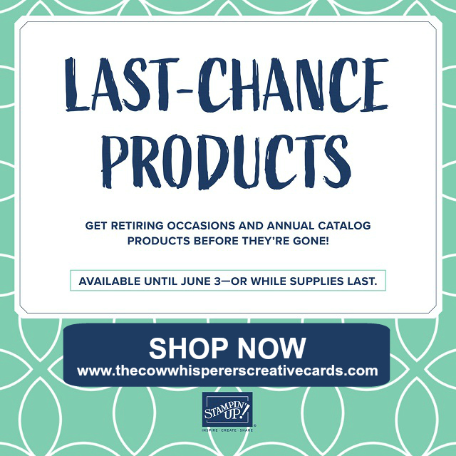 Retiring List, Last Chance Products, 2018-2019 Annual Catalog