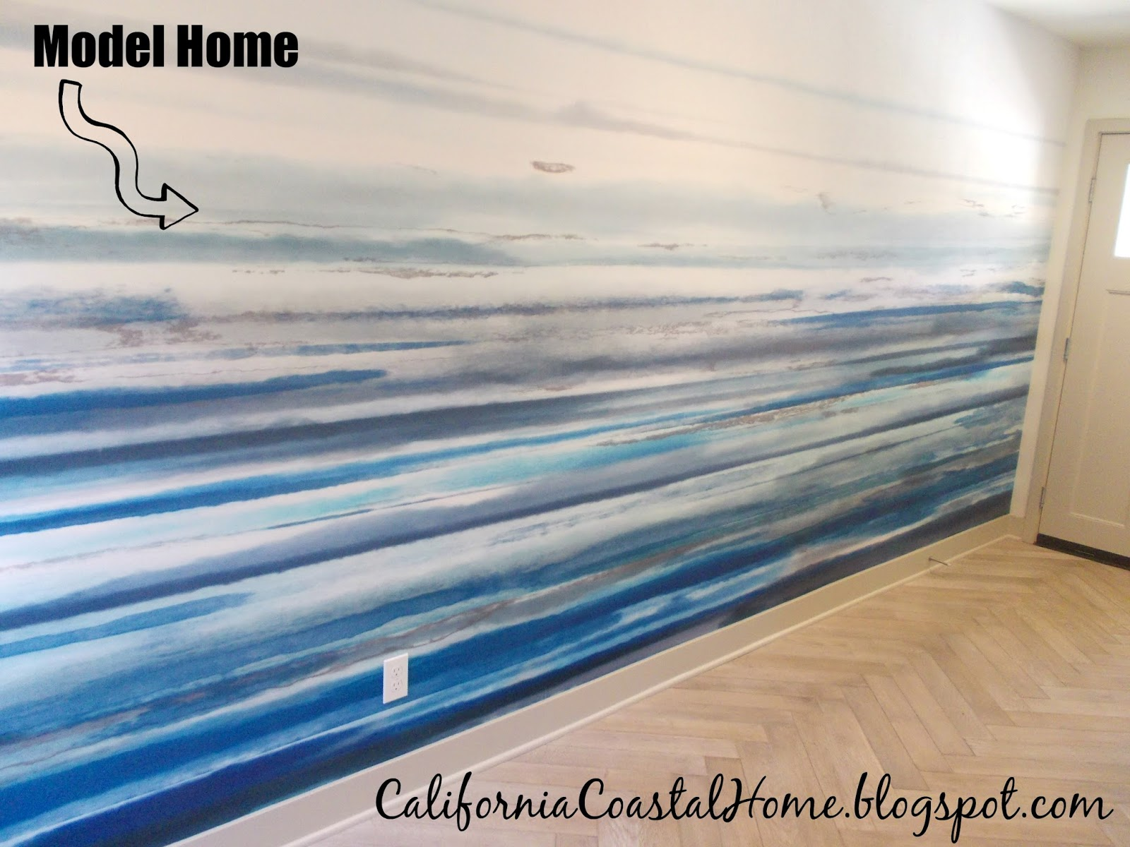 Modern coastal wall mural diy for Diy wall photo mural