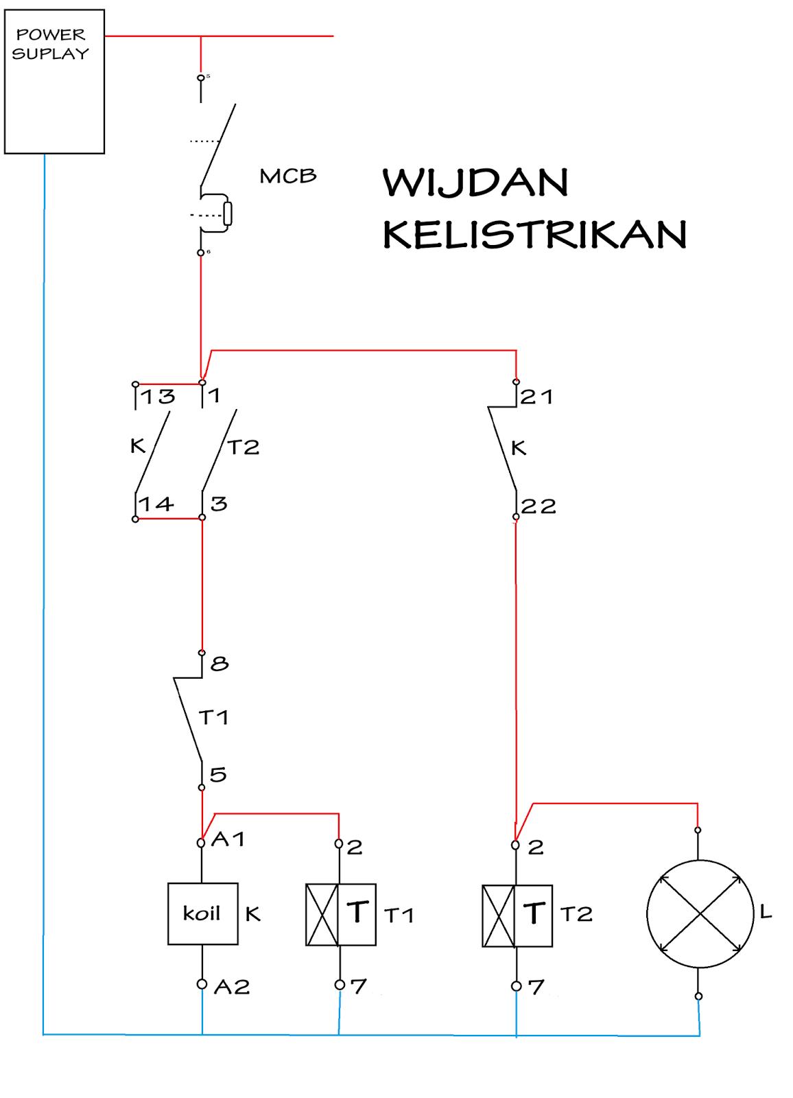 Rangkaian lampu penerangan jalan Umum (PJU) menggunakan