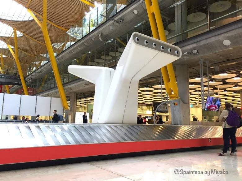 スペインのマドリード·バラハス空港ターミナルT4S到着経路
