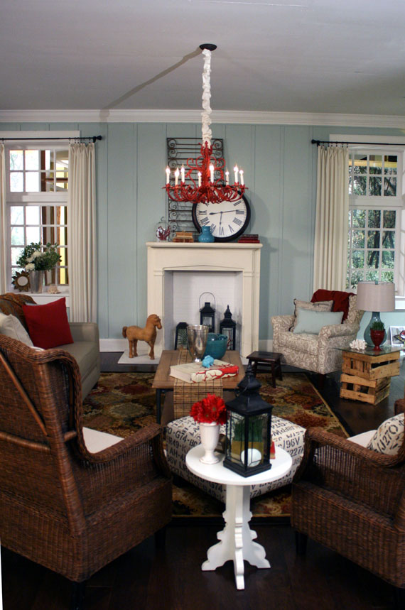 beachy living room wall colors decorating ideas with tv and fireplace remodelaholic beach themed