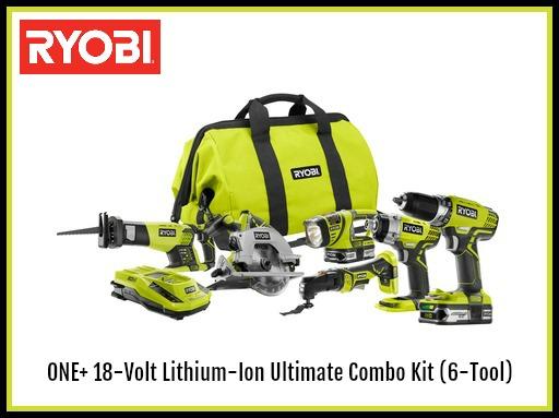ryobi power tools combo kit