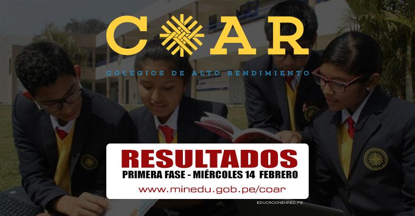 COAR 2018: Resultados Examen de Admisión Primera Fase a Colegios de Alto Rendimiento se publicará el Miércoles 14 Febrero - MINEDU - www.minedu.gob.pe