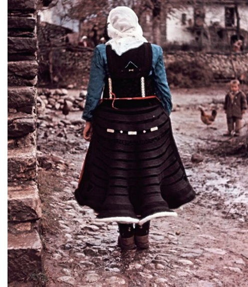 Albanian woman in traditional dressing by Wilfried Fiedler
