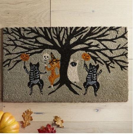 halloween skeleton cats doormat - Pier One Halloween