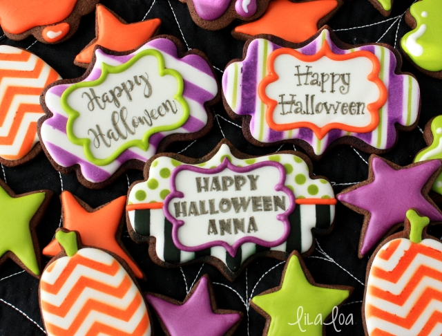 Decorated Halloween Sugar Cookie Tutorial