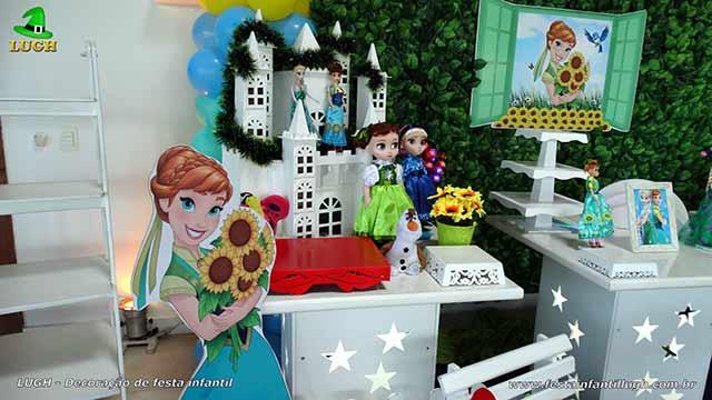 Decoração festa Frozen - Febre Congelante - Aniversário da Ana