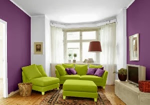 Sala sofá color verde