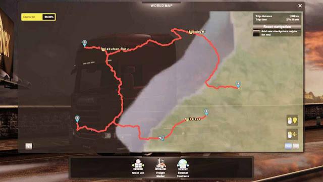 Map ICRF Reworked untuk Euro Truck Simulator 2 1.31