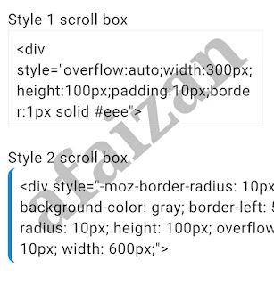 Cara Membuat Kotak Script Sederhana Dalam Postingan
