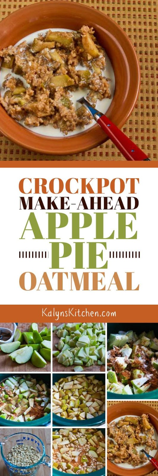 CrockPot Recipe for Make-Ahead Apple Pie Oatmeal found on ...