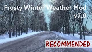 ets 2 frosty winter weather mod v7.0