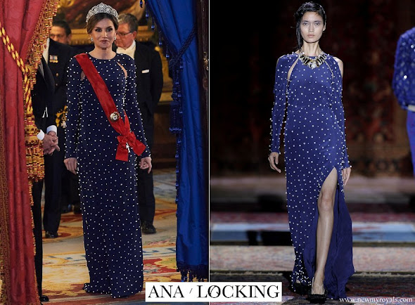 Queen Letizia wore Ana Locking Gown from Spring Summer 2017 Collection