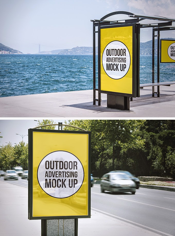 2 Billboard Outdoor Advertising Mock-Ups PSD