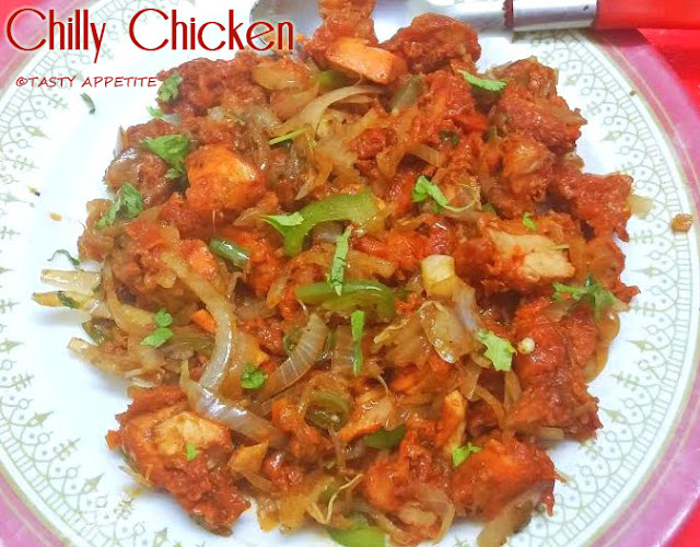 Chilli Chicken Dry Indian Style Recipe