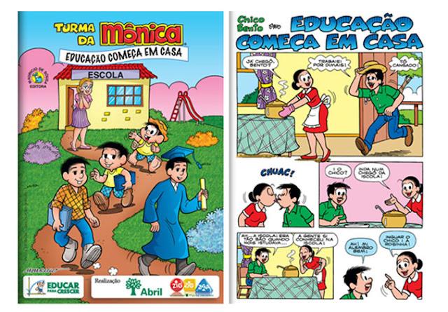 Turma da Mônica Mauricio de Sousa  Educar para Crescer Editora Abril