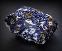 бисерные украшения в стиле бохо купить фриформ браслет ручной работы