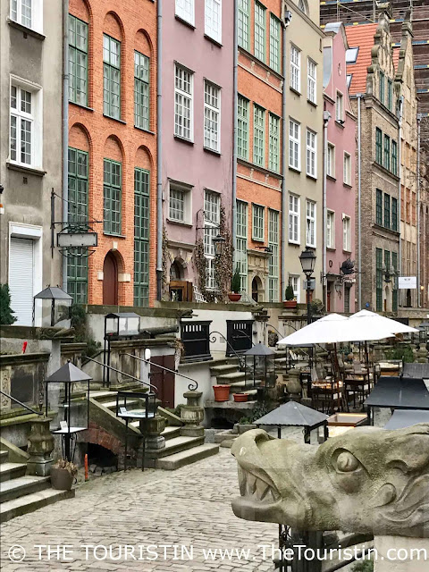 Gargoyles on Mariacka Street. Gdansk, Poland