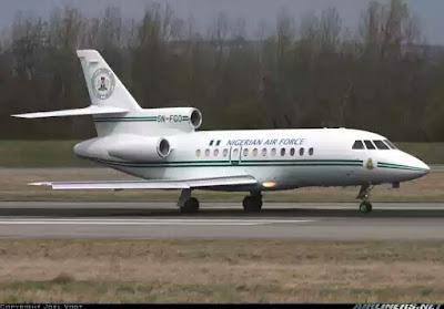Buhari's Presidential Jet Departs UK Airport