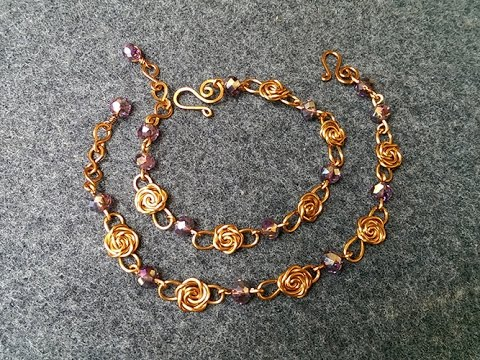 lan by connectors are wrapped bracelet make for wire rosette lovely connector this check rosettes tutorial handmade indeed artist anh out the very vietnamese pretty a