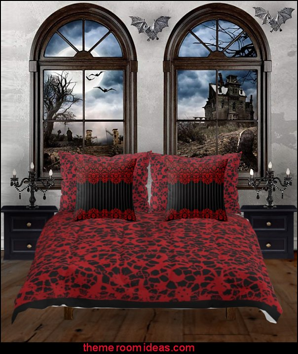 gothic wall decals gothic bedding  Gothic style bedroom decorating ideas - Gothic furniture - Gothic chic - Victorian Gothic boudoir themed decor  - Gothic Beds -  Gothic Seating - Gothic Lighting - Designing a Gothic Room - Goth style for teens - Gothic Victorian Bedroom Theme - vampire themed bedroom decorating ideas - Gothic Wall Murals - gothic living room - Gothic bedding -  Gothic wall decorations