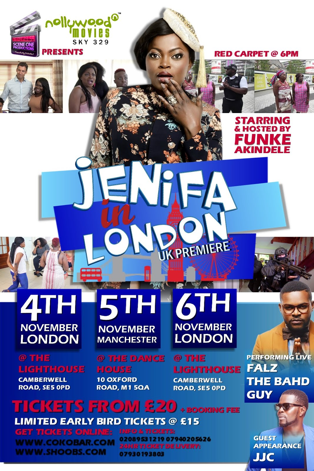 Fri/4-Sun/6/Nov: London Premiere of Funke Akindele Bello's JENIFER IN LONDON The Movie