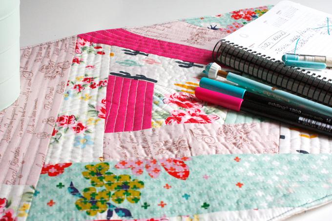 Como hacer un mantel individual en Patchwork con la técnica Quilt as you go