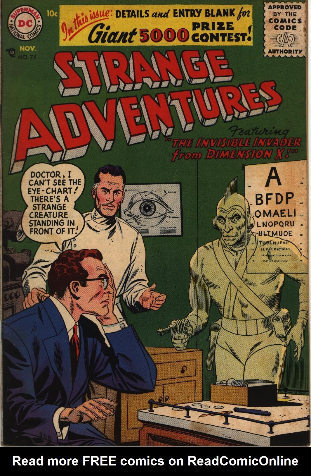 Strange Adventures (1950) issue 74 - Page 1