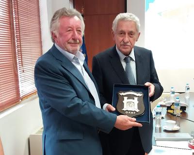 Ενημέρωση του Υπουργού Ναυτιλίας και Νησιωτικής Πολιτικής κατά την επίσκεψη του στον Οργανισμό Λιμένος Ηγουμενίτσας