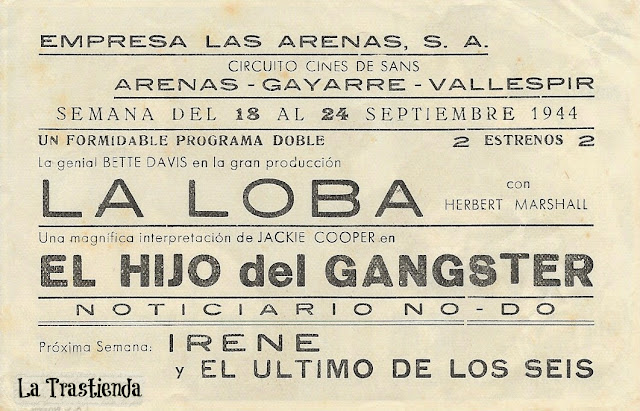 Programa de Cine - La Loba (Horizontal) - Bette Davis - Herbert Marshall