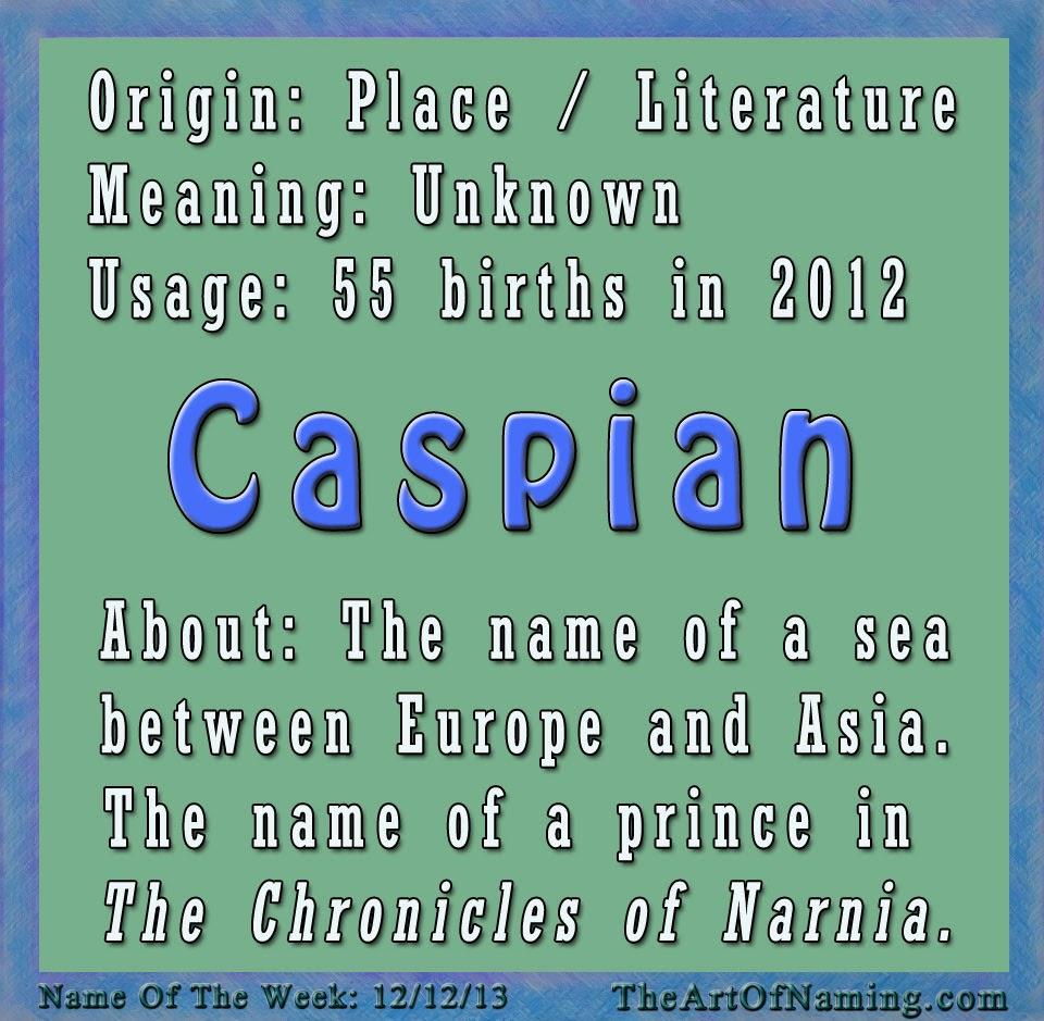 The Art of Naming: Caspian
