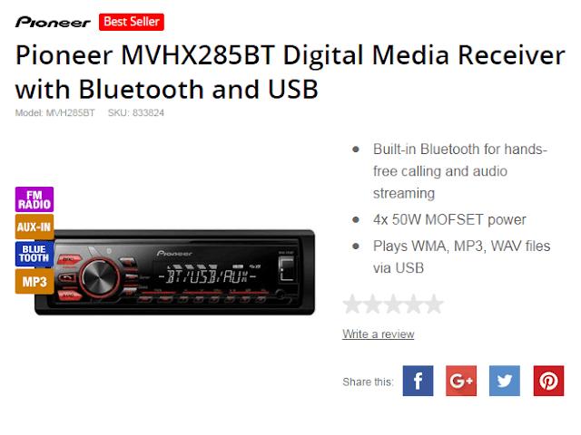 Stereo Mobil Pioneer MVH-285BT