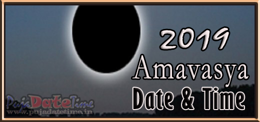 2019 Amavasya Dates for India