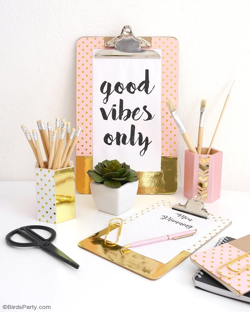 Gold Foil DIY Projects for Your Office