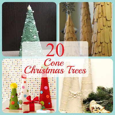Cone Christmas Tree Ideas, cone crafts