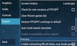cara setting emulator PS2 / PSP 7