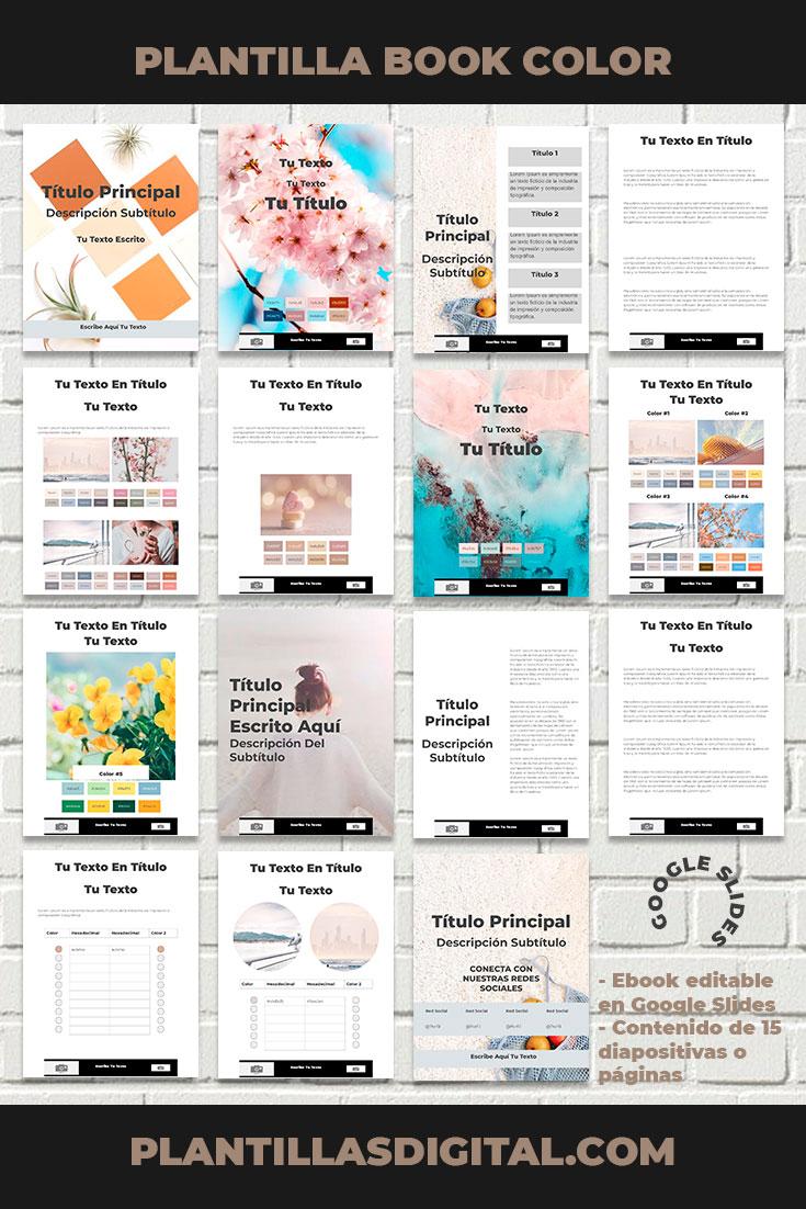 plantilla book color para google slides 3