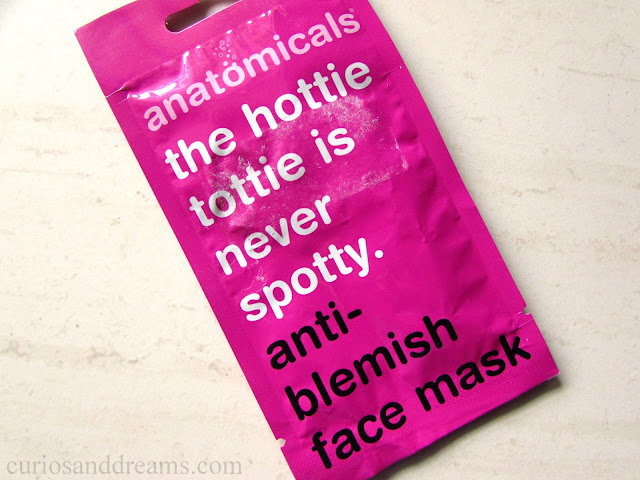 The Hottie Tottie is Never Spotty Anti-Blemish Face Mask review, Anatomicals Anti-Blemish Face Mask review, Anatomicals Face Mask review