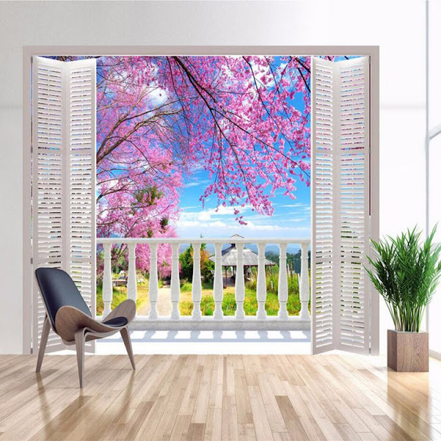 Photo Wallpaper for Bedroom Wall Murals Window