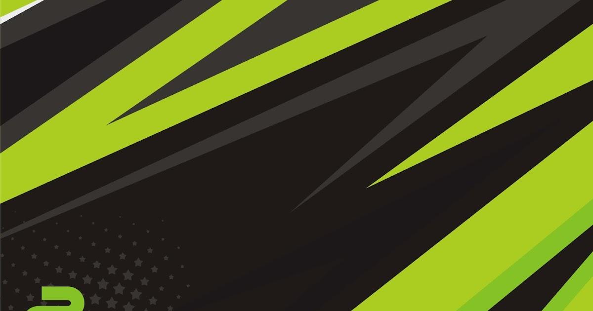 percetakan jaudy media racing stripe black and green