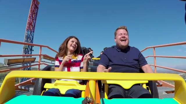 Selena Gomez participa en el Carpool Karaoke con James Corden.