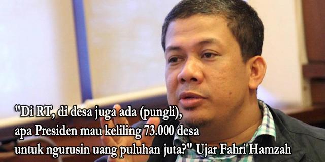 Jokowi Ikut Datang dalam Operasi Pemberantasan Pungli di Kemenhub. Fahri Hamzah: