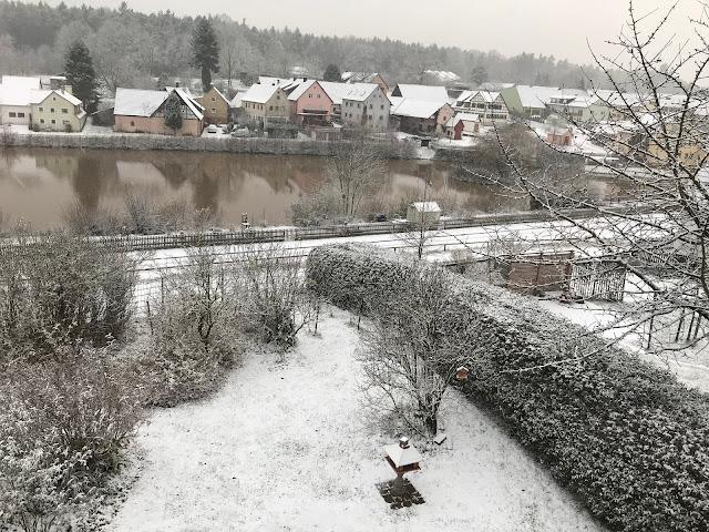Winter, Garten, Dorfweiher, Winter, winterlich